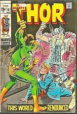 Buy THOR #167 SILVER AGE JACK KIRBY STAN LEE Marvel Comics 1969 1st Print & series