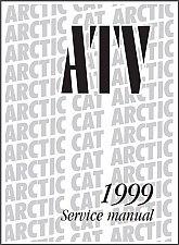 Buy 1999 Arctic Cat 250 300 400 500 ATV Service Manual on a CD