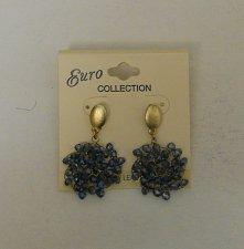 Buy Women Fashion Drop Dangle Earrings Blue Beads EURO COLLECTION Push Backs