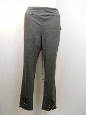 Buy PLUS SIZE 3X Womens Leggings LOYAL THREADS Grey Lace Up Skinny Legs Inseam 29