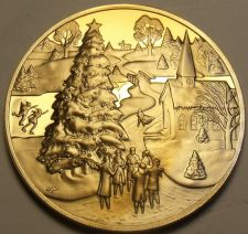Buy Franklin Mint Solid Bronze Proof Medallion~Christmas 1971~Fantastic~Free Ship