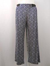 Buy Women Pants Plus Size 1X INC Geometric Wide Leg Elastic Classic 46X30 Multi-Colo