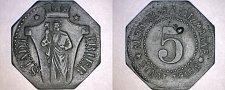 Buy ND (c.1918) German 5 Pfennig Kriegsgeld World Coin - Trier Germany Notgeld