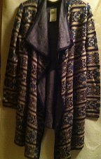 Buy Lucky Brand Women's Scarf Pattern Cardigan L