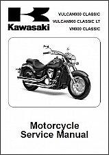 Buy 2006-2013 Kawasaki Vulcan 900 Classic ( VN900 ) Service Manual on a CD