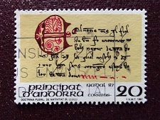 "Buy Andorra Spanish 1994 1v used stamp Mi 198 Manuscript Doctrina Pueril ""De Nat"