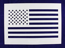 Buy -Mylar 14 Mil Large US Flag Stencil (straight) Painting/Crafts/Template