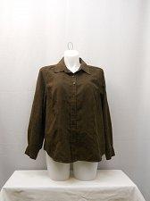 Buy Plus Size 2X Collar Shirt NORTON MCNAUGHTON Brown Faux Suede Beaded Long Sleeves