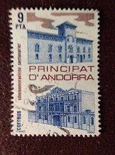 Buy Andorra Spanish 1982 1v used stamp Mi160 Delegates Buildings