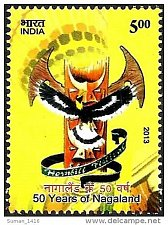 Buy India Commemorative Stamp 2013 on 50 Years of Nagaland State