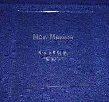 """Buy State of New Mexico 6""""x 5.61"""""""" ~ 1/4"""" Quilt Template- Acrylic - Long Arm/ Sew"""