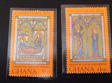 Buy Ghana Christmas 1974 2stamp Art | Biblical Accounts | Christmas | Paintings | R