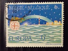 Buy Belgium used 1v stamp EUROPA Stamps Architecture/Buildings/ Thematic Stamp