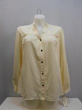 Buy PLUS SIZE 16W 18W Button Down Shirt CHARTER CLUB Vanilla Long Sleeve Collar Neck