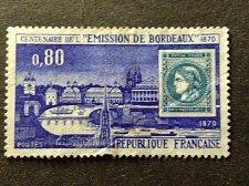Buy France 1v used 1970 FRANCE réf 1659 BORDEAUX CENTENAIRE DE L'EMISSION DE