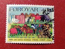 Buy Faroe Islands used 2v set 1994 Christmas Stamps