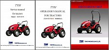 Buy TYM T233 - T273 HST Tractor Repair Service & Parts Manual CD --- T 233 273