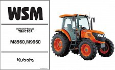 Buy Kubota M8560 M9960 Tractor WSM Service Workshop Manual CD