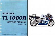 Buy 1998-2002 Suzuki TL1000R Repair Service & Parts Manual CD -- TL 1000R 1000 R
