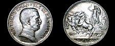 Buy 1917-R Italian 1 Lira World Silver Coin - Italy