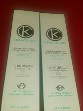 Buy Keracolor Brown and Keracolor Natural Leave in conditioning color combo with CET