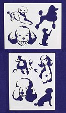 Buy Poodle Dog Stencils-2 pc Set-14 Mil Mylar- Painting/Crafts/Template