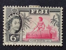 Buy Fiji 1v used 1959 SG 303 Fijian Beating Lali Fine USed