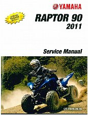Buy 2011-2012-2013 Yamaha YFM90 Raptor 90 ATV Service Manual on a CD