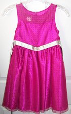 Buy Princess Faith Spring Time Sleeveless Dress Pink Lace with Polka Dots Size 6X