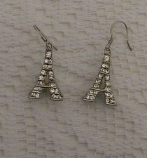 Buy Women Earrings 3D Eiffel Tower Fashion Drop Dangle Silver Tones Hook FASHION