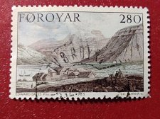 Buy Faroe Islands used 2v Stamps 1985 Paintings - Stanley's Journey