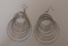 Buy Women Fashion Drop Dangle Hoop Earrings Silver Tones FASHION JEWELRY Hook