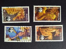 Buy Malta 2002 4v used Stamp Mi:1207-10 set of four Long-snouted Seahorse