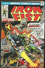 Buy IRON FIST #3 VG+/FINE Marvel Comics 1975 Atomic Man