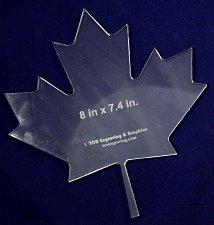 """Buy Maple Leaf -8""""H x 7.4""""W- ~1/4 Clear Acrylic - Long Arm/Hand Sew"""