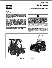 Buy TORO Groundsmaster 360 Ride-On Mower Service Manual on a CD