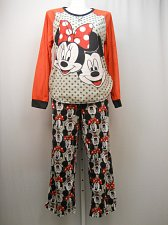 Buy PLUS SIZE 2X Women 2PC Microfleece PJ Set DISNEY Minnie Mickey Long Sleeve Crew