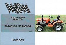 Buy Kubota B6200HST B7200HST Tractor WSM Service Manual on a CD