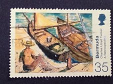Buy Bermuda 1v used stamp Michel BM 805 Paintings by Charles Lloyd Tucker