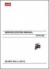 Buy Aprilia SR MAX 300 i.e Scooter Service Workshop & Parts Manual on a CD