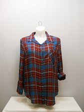 Buy SIZE XXL 20 Womens Button Down Shirt FADED GLORY Multi Plaid Collared Long Sleev