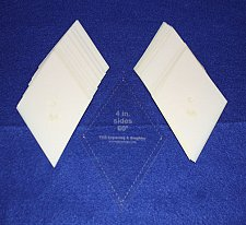 """Buy Mylar 4"""" Side Diamonds 51 Piece Set - Quilting / Sewing Templates -"""