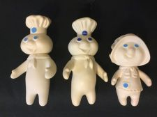 Buy Vintage Lot x3 Pillsbury Dough Boy Rubber Dolls Characters Poppin & Poppie Fresh
