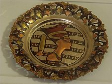 Buy EGYPTIAN Copper Theme Plate Nile Pyramid Egypt Spinx