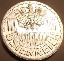 Buy Proof Austria 1973 10 Groschen~Only 97,000 Minted~Imperial Eagle~Free Shipping
