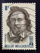 Buy Belgium 1965 used 1v stamp Jordaens, Jacob Mi 1383