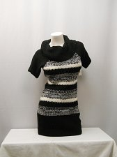 Buy Womens Tunic Sweater Size S Striped Cowl Draped Neck Short Sleeves Marilyn Neck