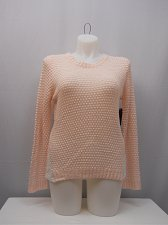 Buy Womens Sweater Size XL Crochet Lace Sides Long Sleeves Pink Blush