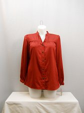Buy PLUS SIZE 14W 16W 18W Button Shirt CHARTER CLUB Cherry Red Long Sleeves Collar