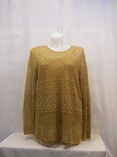 Buy PLUS SIZE 2X 2Pc Knit Sweater LAUREN RALPH LAUREN Gold Long Sleeve Scoop Neck